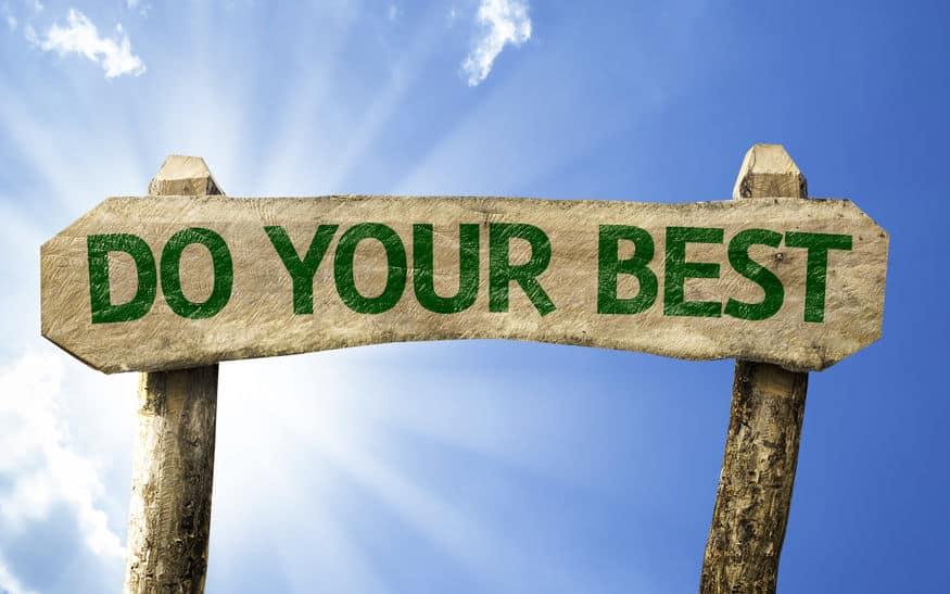 4 ההסכמות והקריירה – הסכמה רביעית – עשו כמיטב יכולתכם